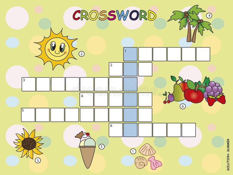 Download Crossword stock illustration. Illustration of game, gaming - 29889952