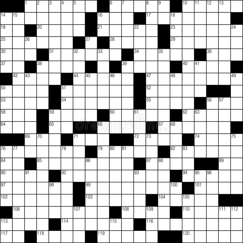 Crossword puzzle stock illustration