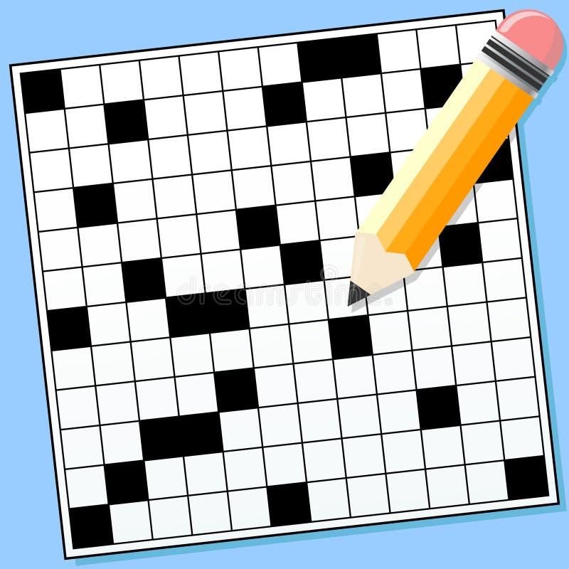 Crossword Puzzle vector illustration