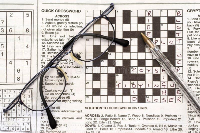 Crossword puzzle. stock photos