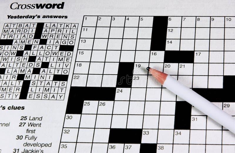 Download Crossword Puzzle Stock Photo - Image: 788970