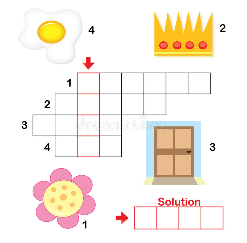 Crossword puzzle for children, part 2 royalty free stock photos