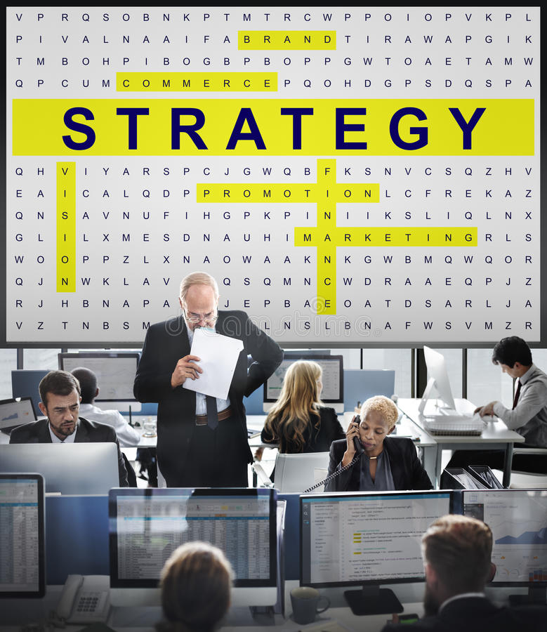Crossword Puzzle Game Strategy Business Concept. Crossword Puzzle Game Strategy Business royalty free stock images
