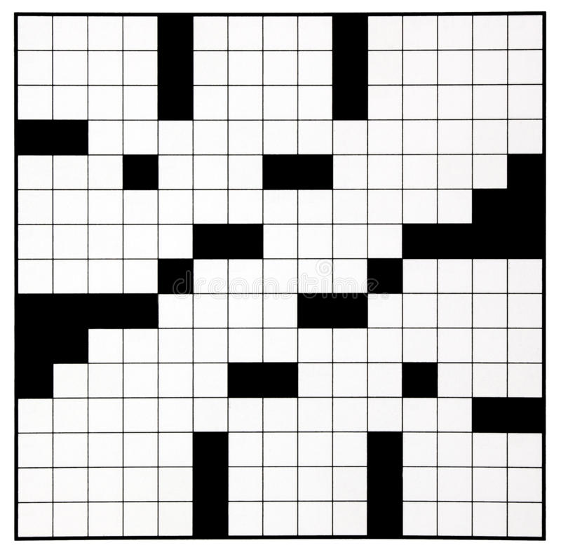 Crossword Puzzle Grid Stock Photo Image Of Black Template