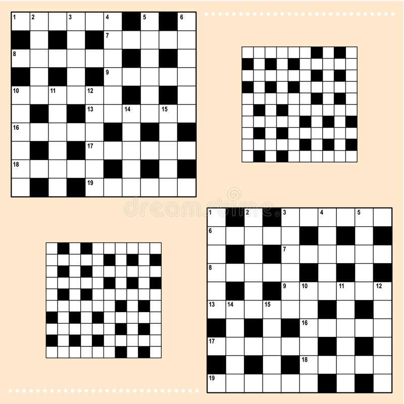 Crossword puzzle grids royalty free illustration