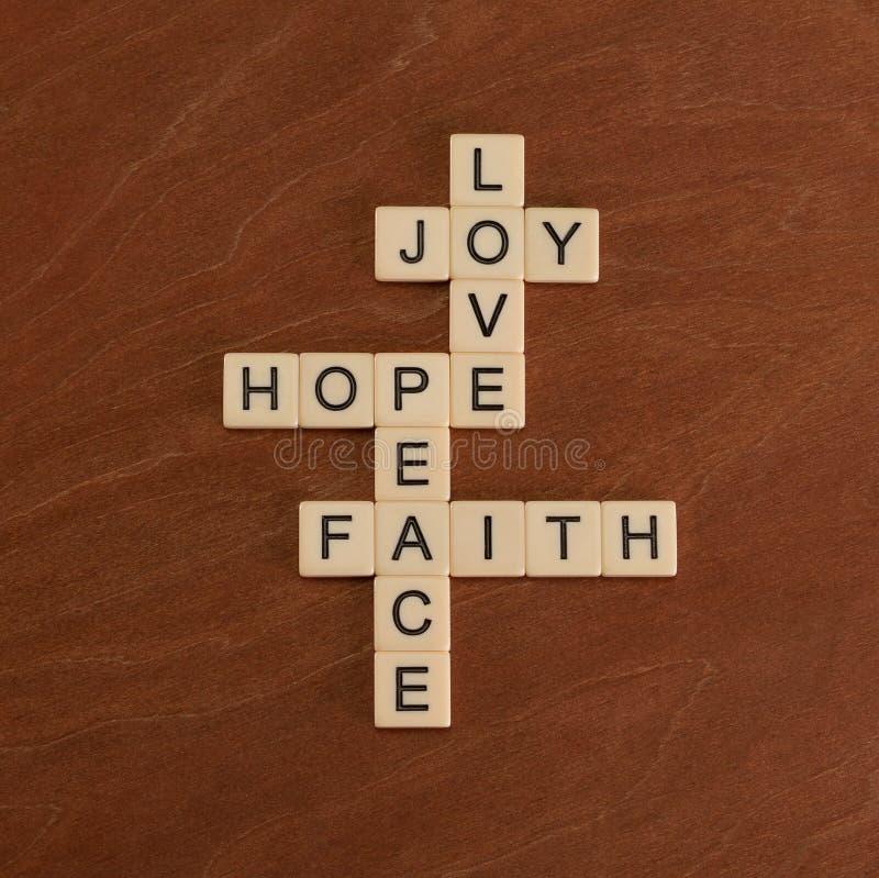 Free Crossword Puzzle With Words Faith, Hope, Love. Faith Concept. Stock Photos - 92541293
