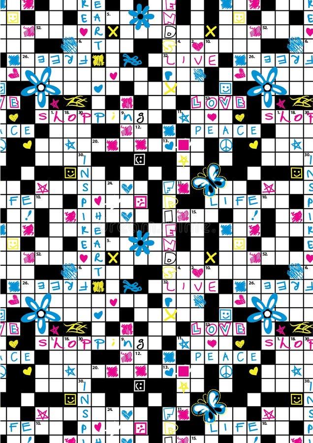 Free Crossword Repeat Pattern. Stock Photo - 36574340
