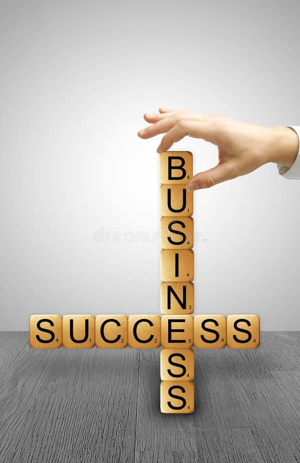Crossword success of business stock photos