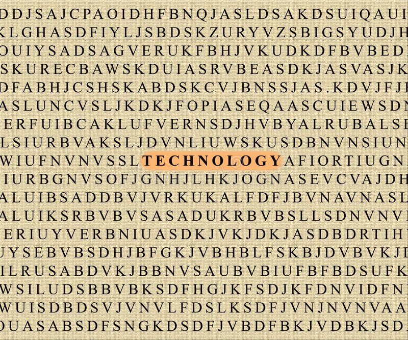 Download Crossword-technology stock image. Image of paper, corporate - 474351