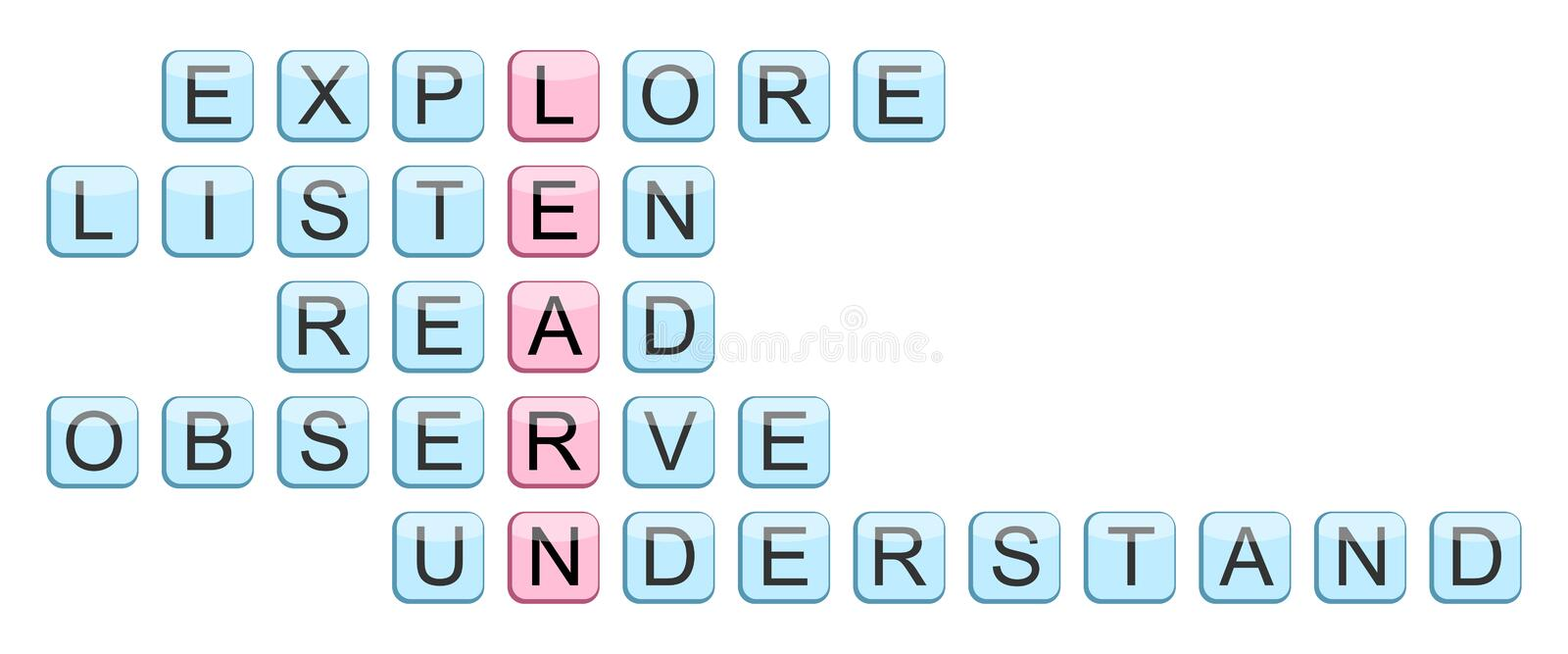 Crossword For The Word Learn Royalty Free Stock Photo