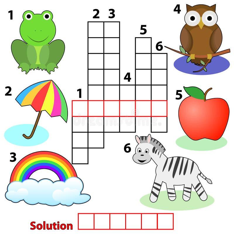Free Crossword Words Game For Children Stock Photo - 19311370
