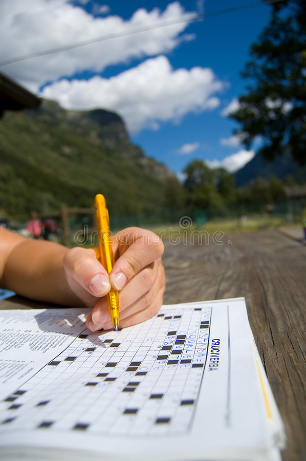 Crosswords royalty free stock photo