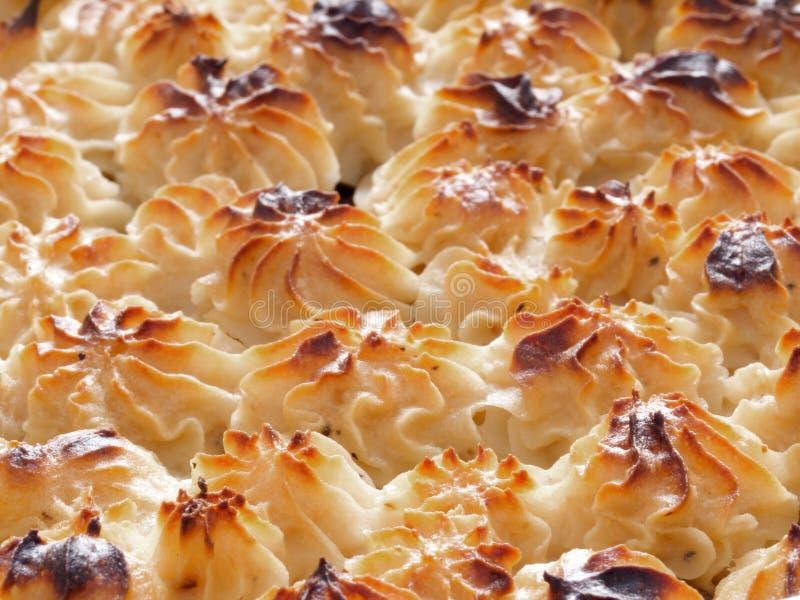 Crosta della patata della torta del pastore immagine stock libera da diritti