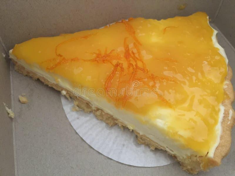Crostata al limone meringato fotografie stock
