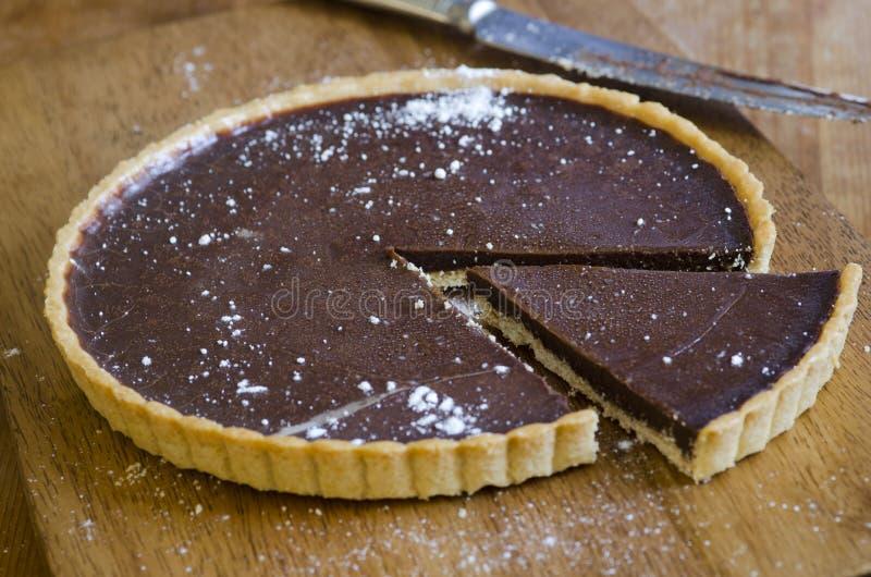Crostata del cioccolato immagini stock