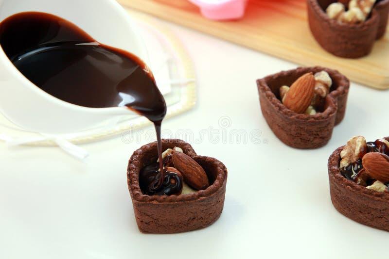 Crostata del cioccolato fotografia stock libera da diritti