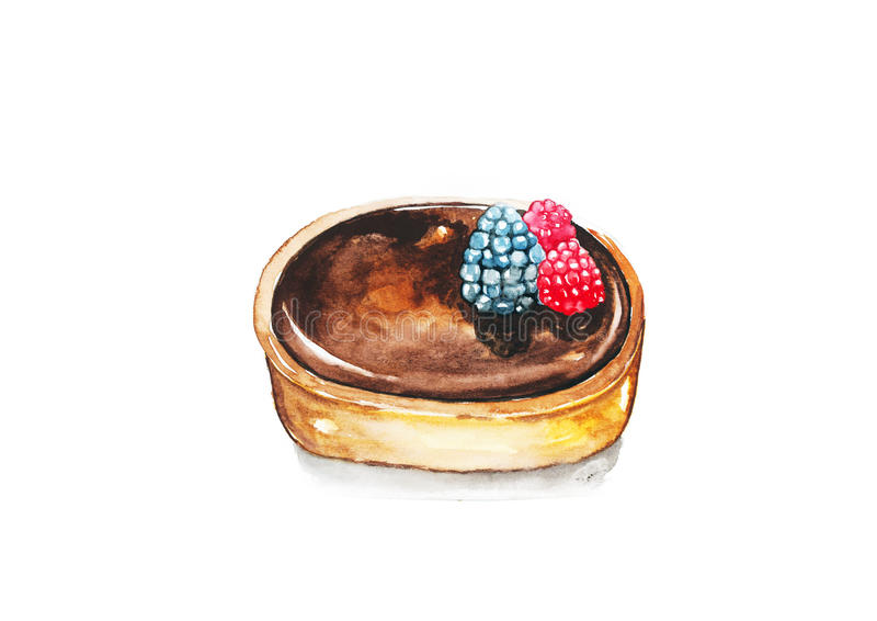 Crostata del cioccolato royalty illustrazione gratis