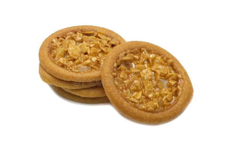 Crostata della mandorla e biscotti aromatizzati così dolci fotografia stock