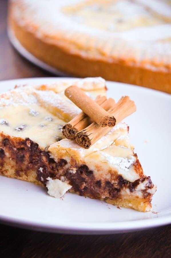 Crostata do queijo de Ricotta. fotos de stock royalty free