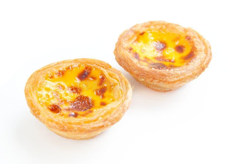 Crostata portoghese dell'uovo fotografia stock libera da diritti
