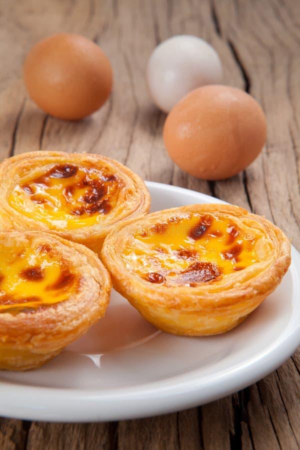 Crostata portoghese dell'uovo fotografia stock