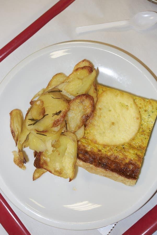 Crostata vegetariana con la patata fotografie stock