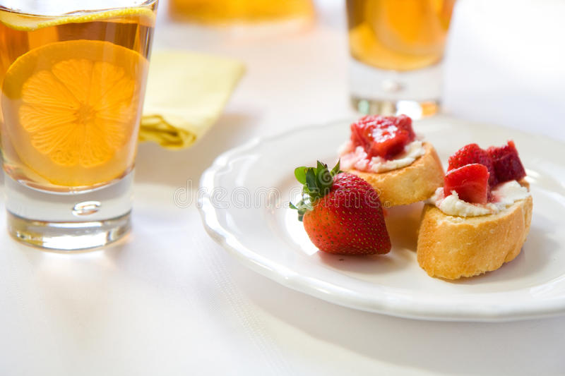 Download Crostini With Strawberry Rhubarb Compote Stock Image - Image: 14256305