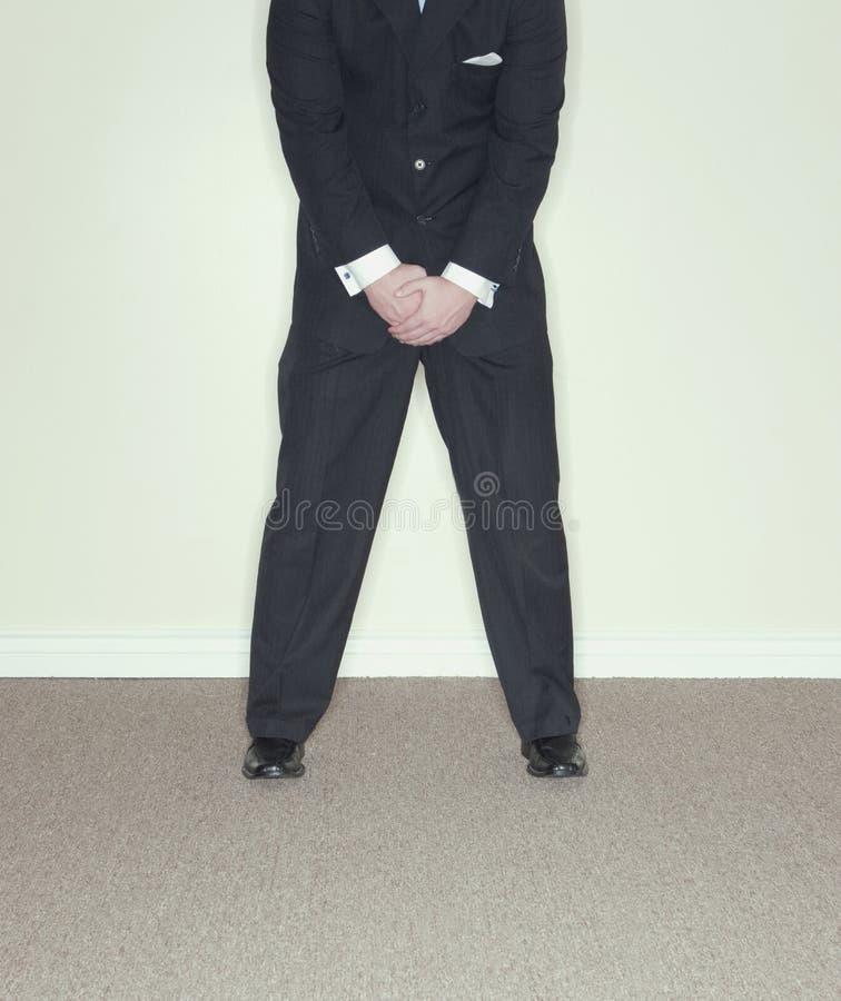 Crotch do homem de negócios fotos de stock