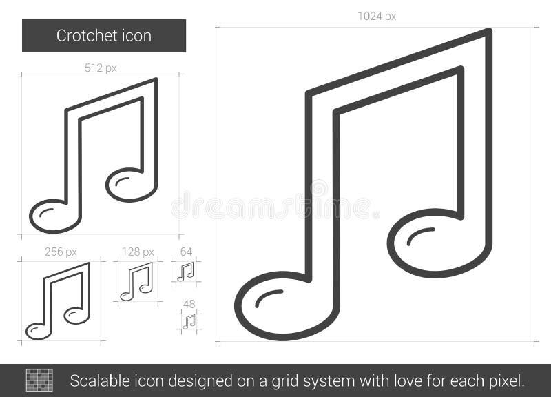 Crotchetlinje symbol vektor illustrationer
