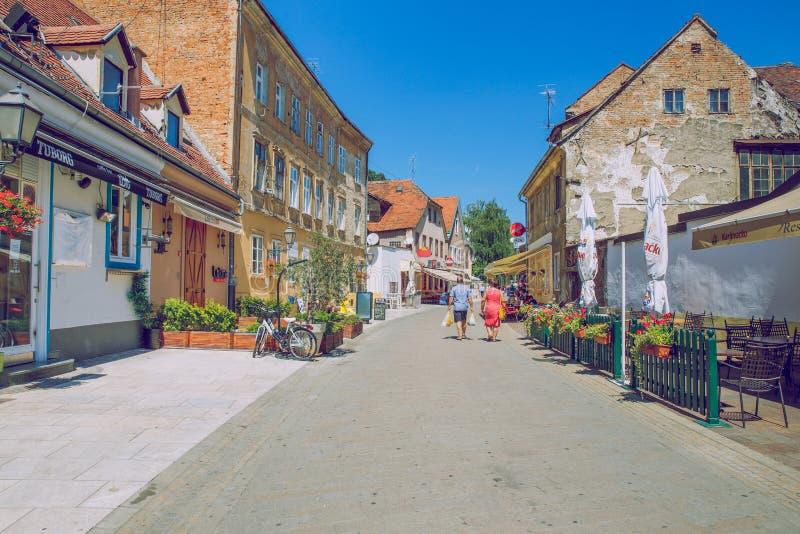 Crotia,城市萨格勒布 免版税库存图片
