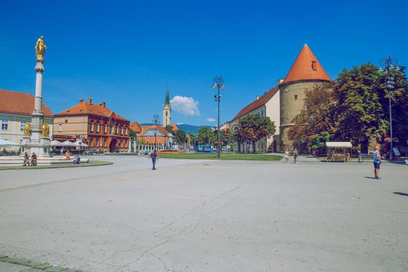 Crotia, città Zagabria fotografia stock libera da diritti