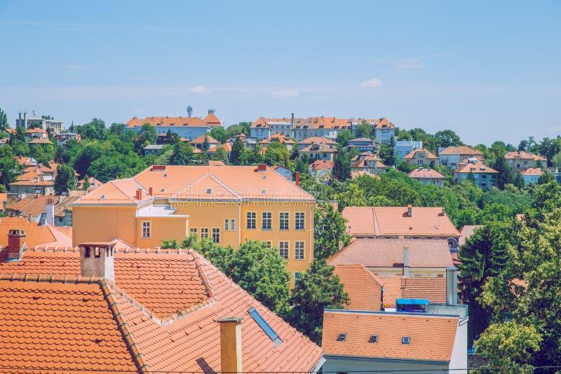 Crotia, città Zagabria immagine stock