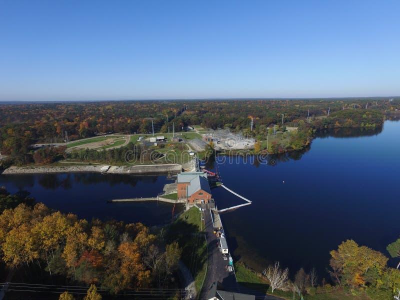 Croton Michigan Muskegon rzeki tama obraz royalty free