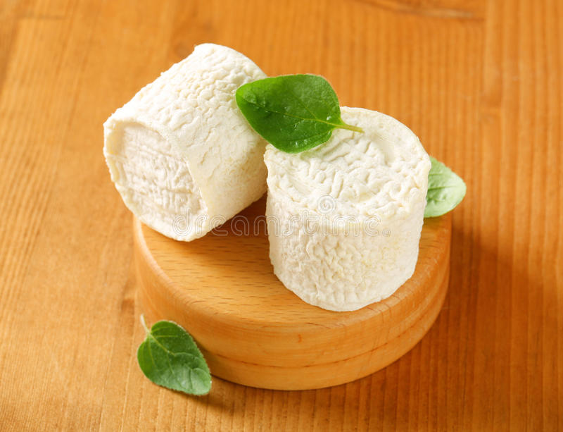 Crottins de Chevre cheese royalty free stock image