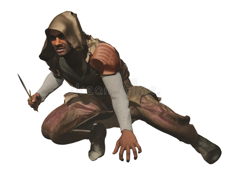 Crouching assassin
