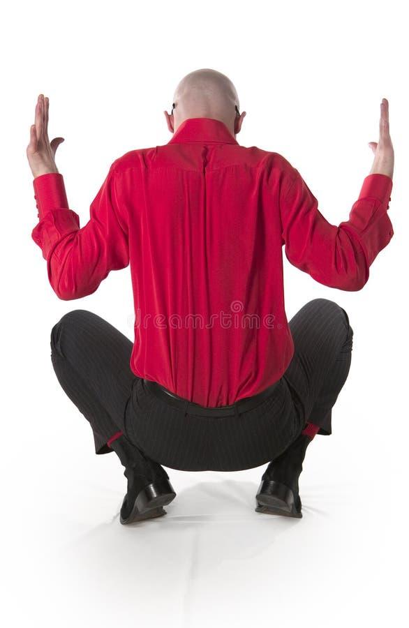 Download Crouching man stock photo. Image of crouching, belt, splayed - 2963162