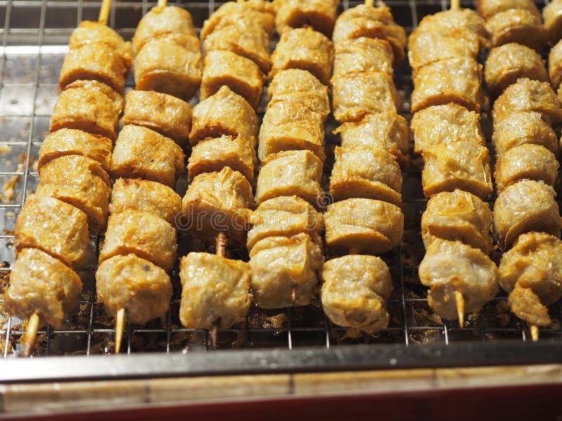 Croustillant délicieux profond de roulade de viande de Fried Chicken Crab photo stock
