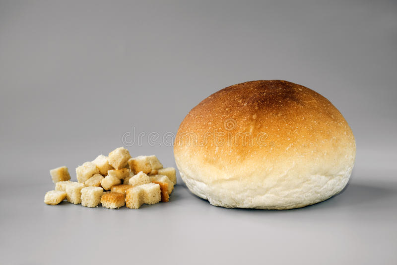 Crouton en Broodje royalty-vrije stock afbeelding