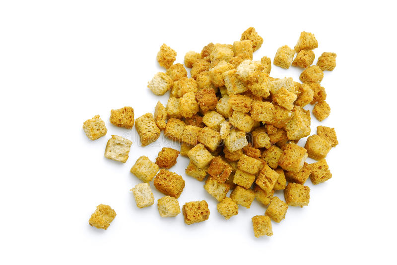 Download Croutons stock photo. Image of crispy, soup, white, baked - 16668458