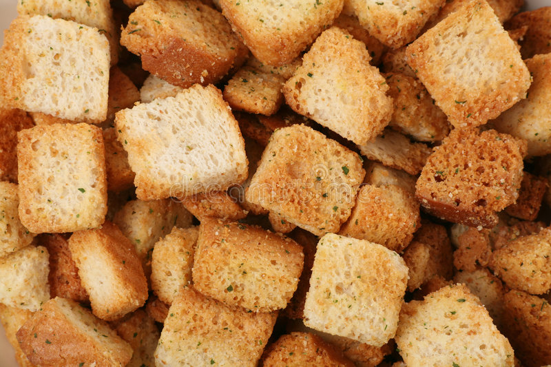 Croutons stock foto
