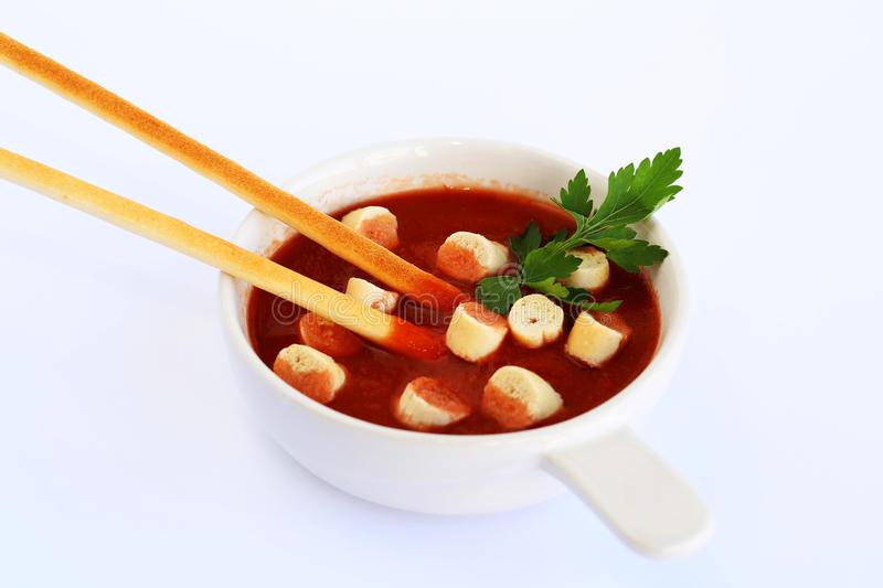 Download Croutons And Sauce Royalty Free Stock Photography - Image: 31973747