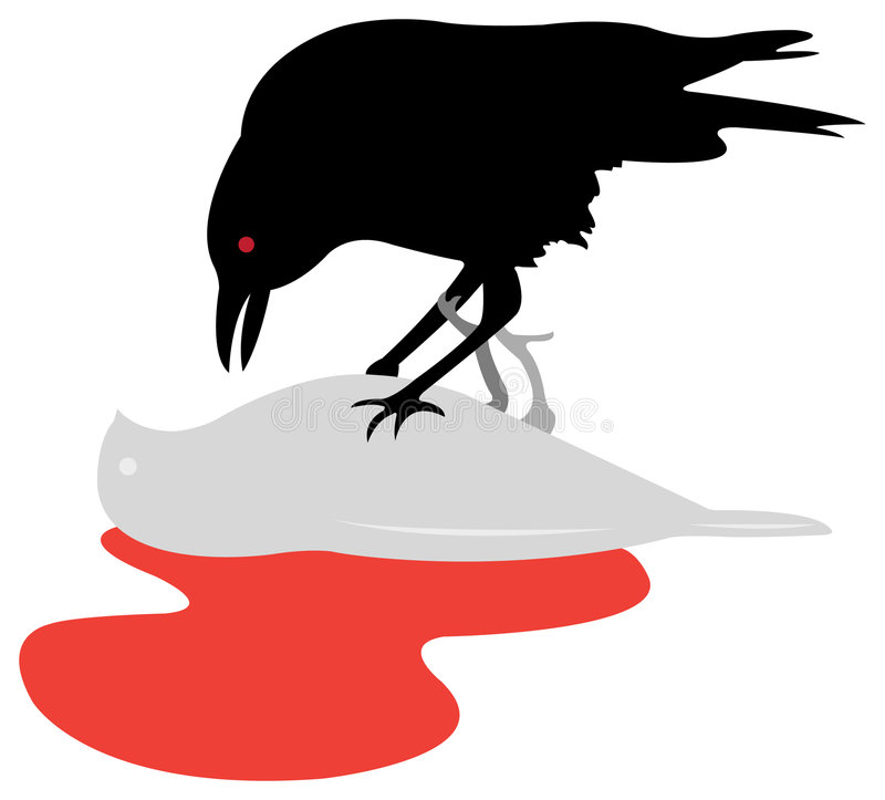 Download Crow stock vector. Illustration of crow, blood, dove, black - 7809557