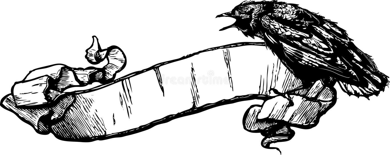 Crow Banner Vector Illustration royalty free illustration