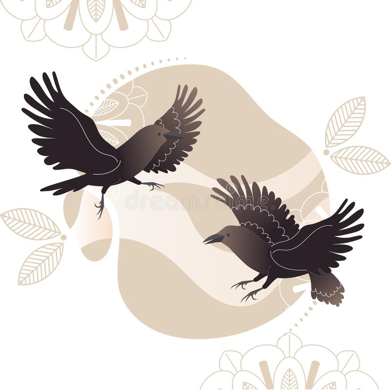 Raven Vector Stock Vector. Illustration Of Silhouette