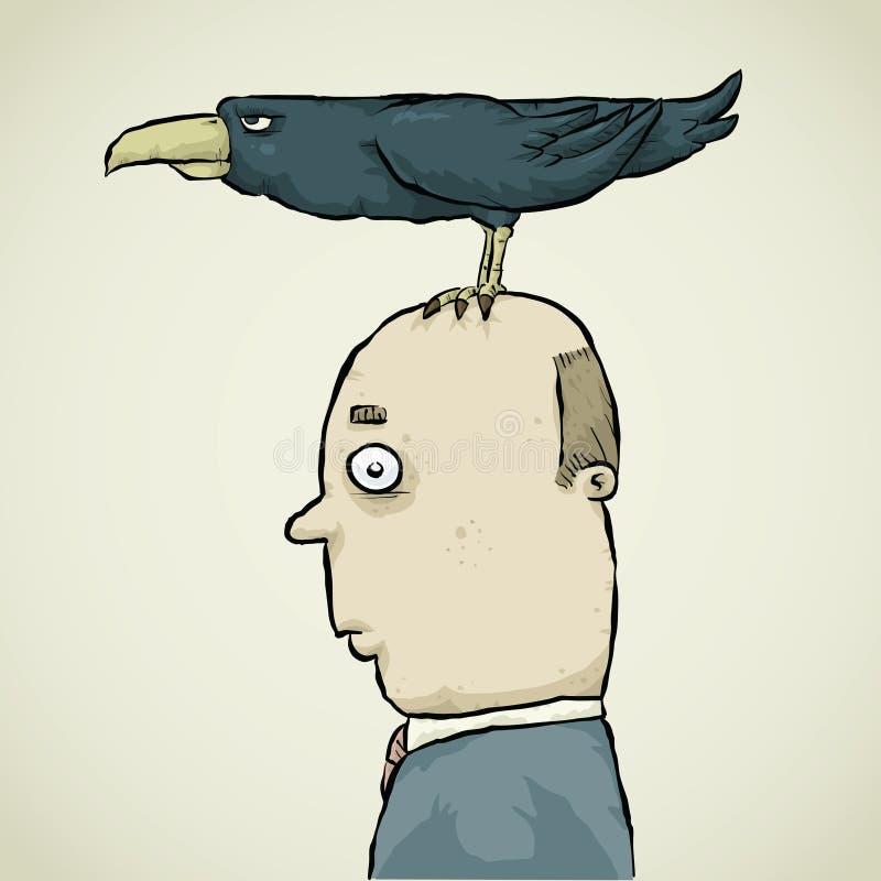 Crow Perch vector illustration