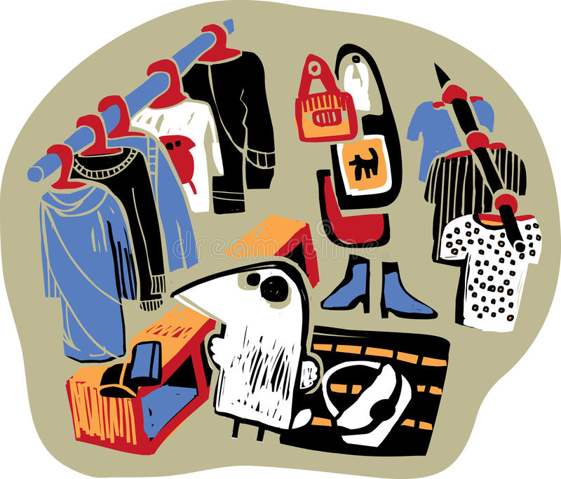 Download Crow-shopping stock vector. Illustration of buying, scene - 11273610