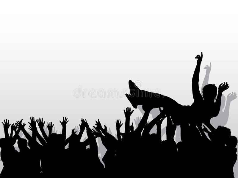 Crowd 05 stock illustration