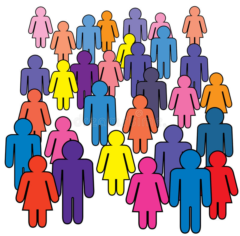 Download Crowd stock vector. Image of many, peace, stand, human - 16354775