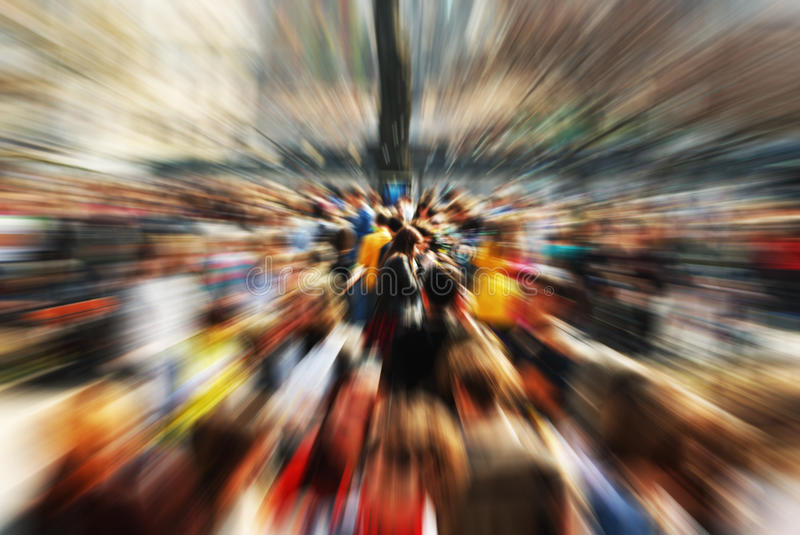 The Crowd. Abstract background, blurred crowd, bright colors