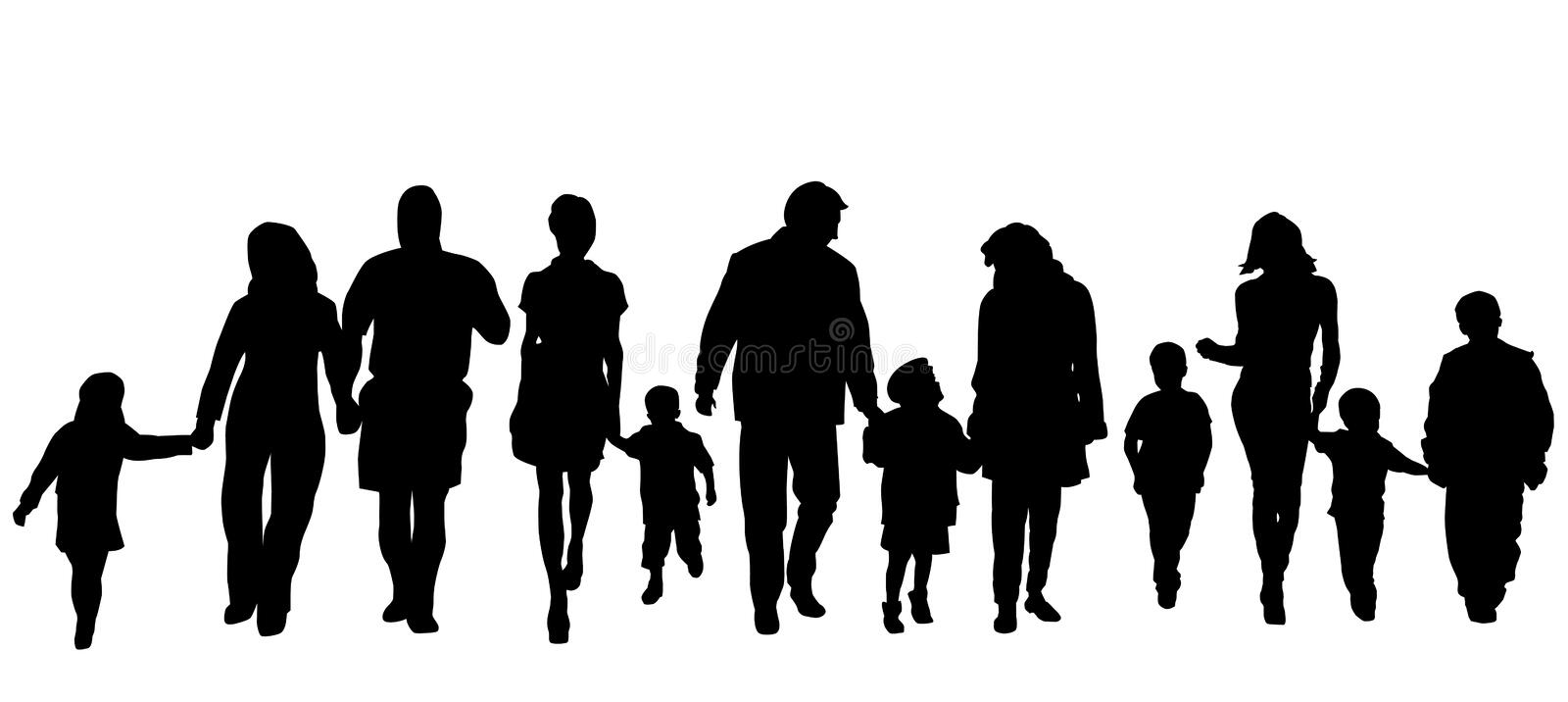 Crowd vector illustration